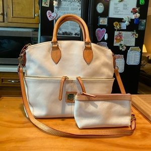 DB Dillen Leather Shoulderbag & Cosmetic Purse